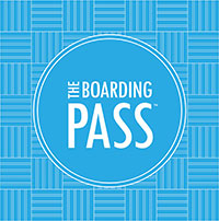 The boarding pass logo