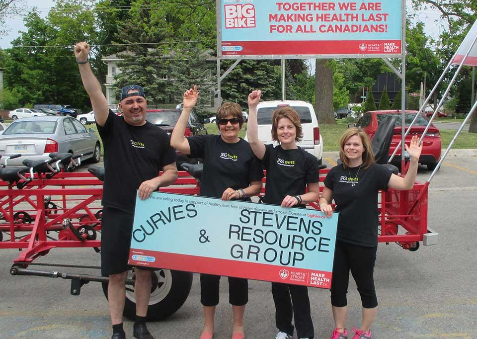 SRG Tillsonburg Rides the Big Bike for Heart and Stroke